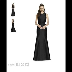 Alfred Sung style long formal dress